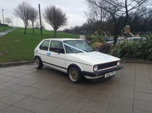 Old skool rules! His Mk1 Golf GTi was even used for a wedding car.
