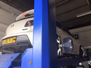 Another customer getting a 4-wheel alignment